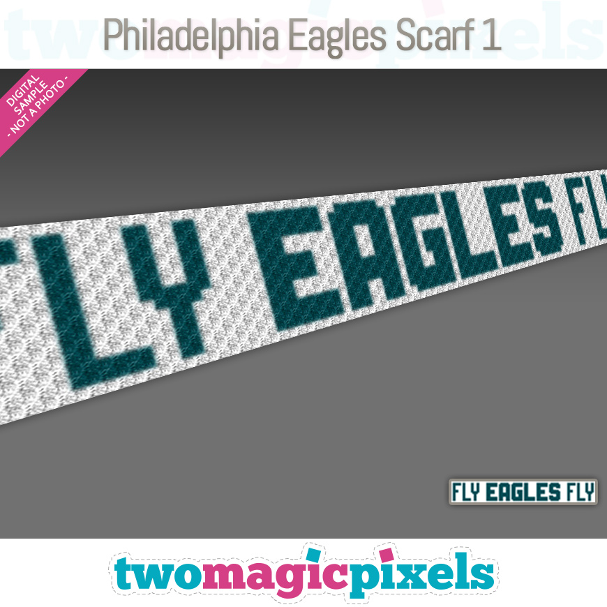 Philadelphia Eagles Scarf 1 by Two Magic Pixels