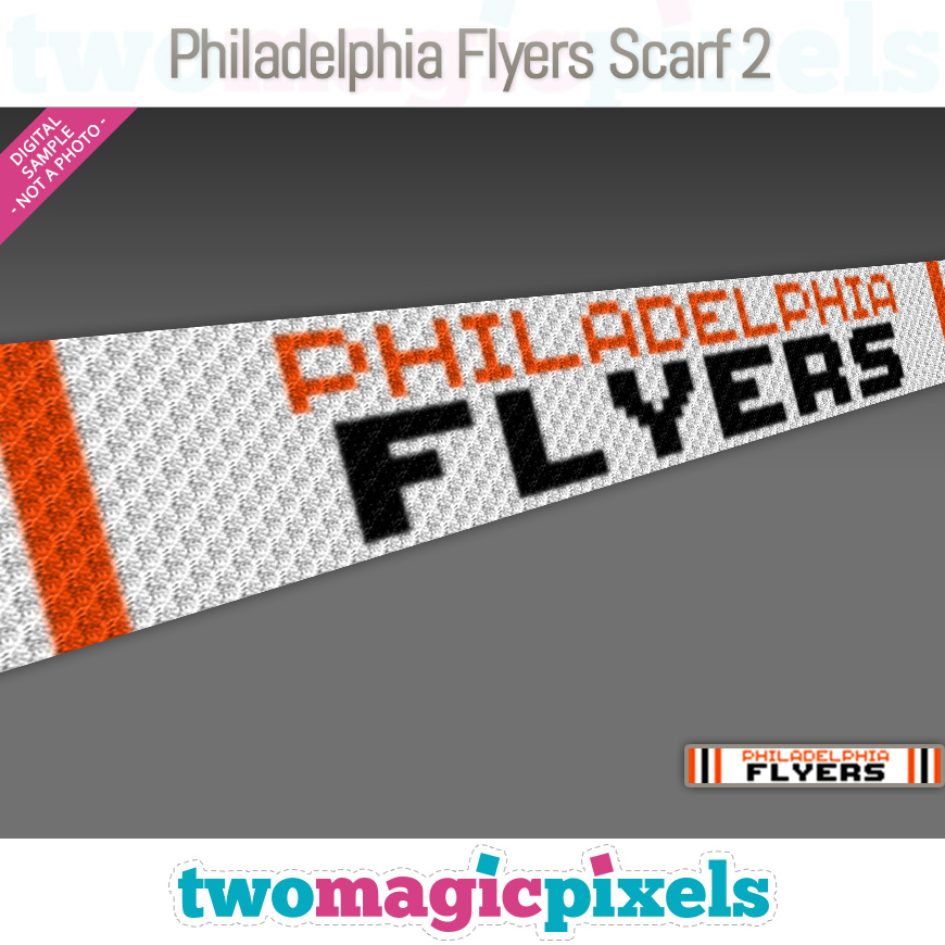 Philadelphia Flyers Scarf 2 by Two Magic Pixels