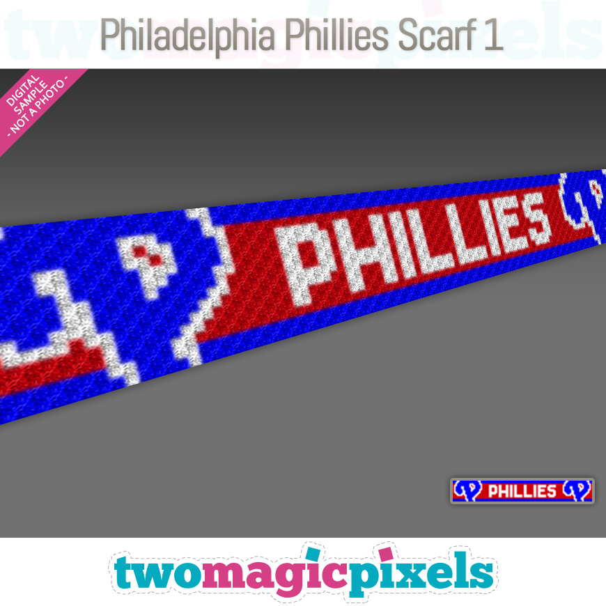 Philadelphia Phillies Scarf 1 by Two Magic Pixels