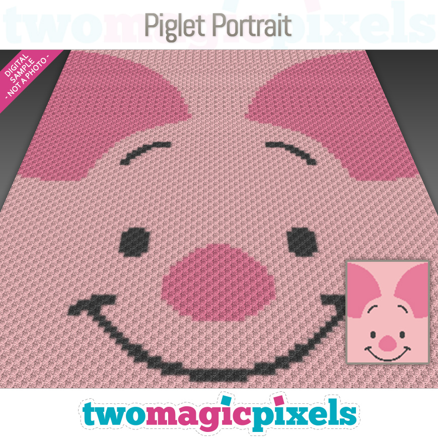 Piglet Portrait by Two Magic Pixels