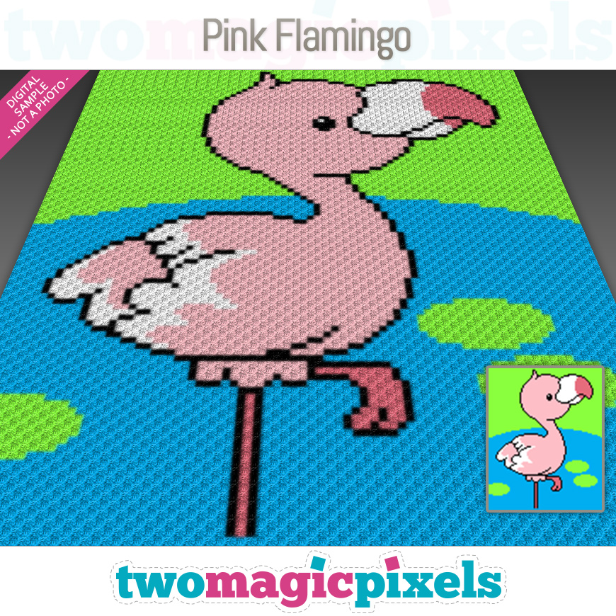 Pink Flamingo by Two Magic Pixels