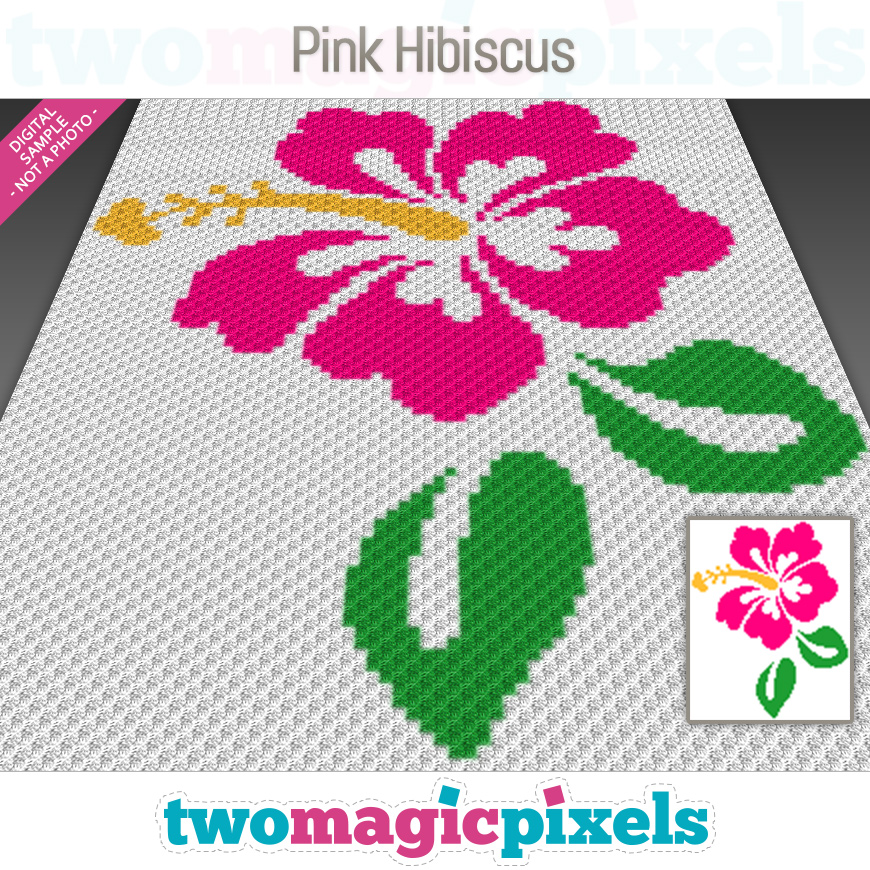 Pink Hibiscus by Two Magic Pixels
