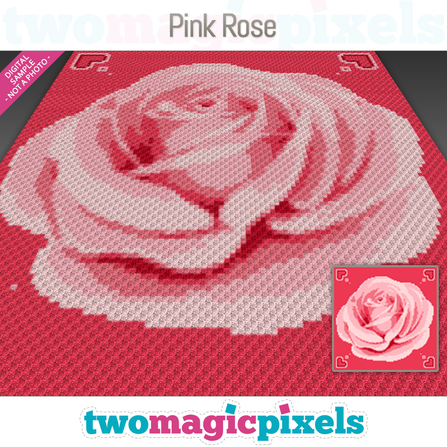 Pink Rose by Two Magic Pixels