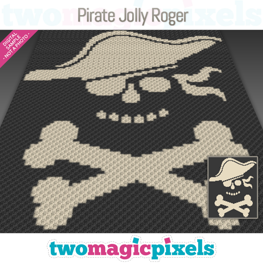 Pirate Jolly Roger by Two Magic Pixels