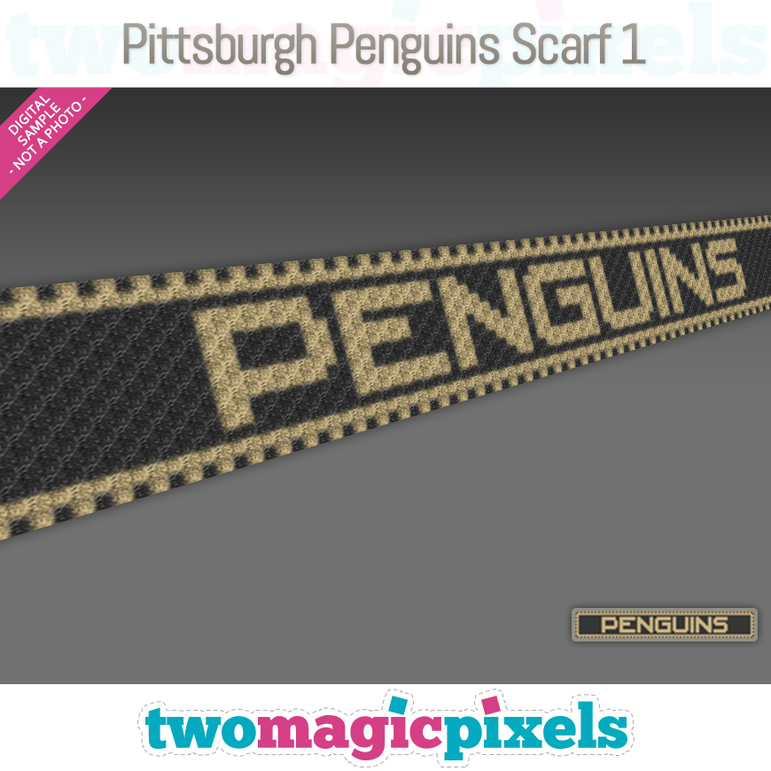 Pittsburgh Penguins Scarf 1 by Two Magic Pixels