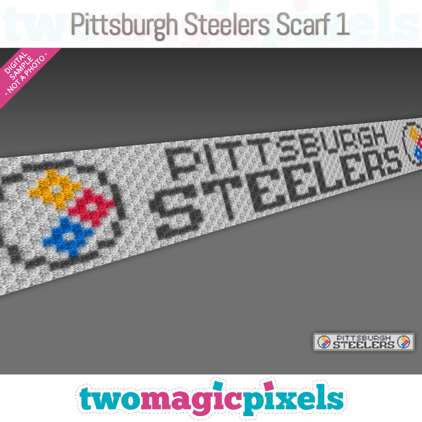 Pittsburgh Steelers Scarf 1 by Two Magic Pixels