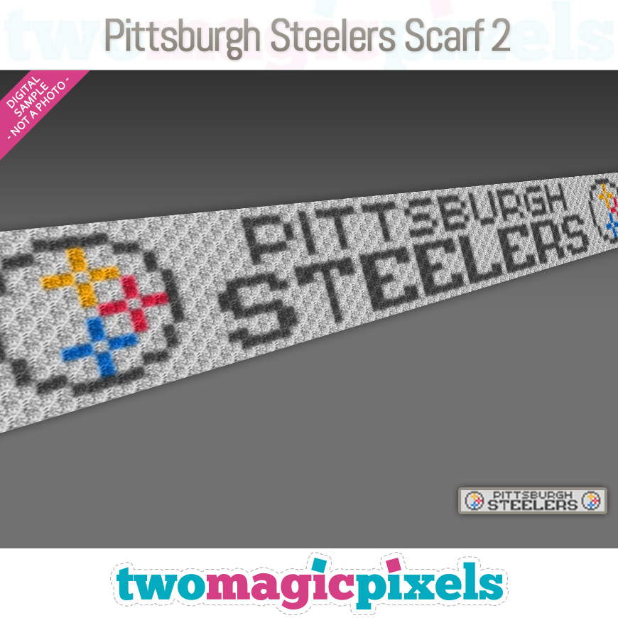 Pittsburgh Steelers Scarf 2 by Two Magic Pixels