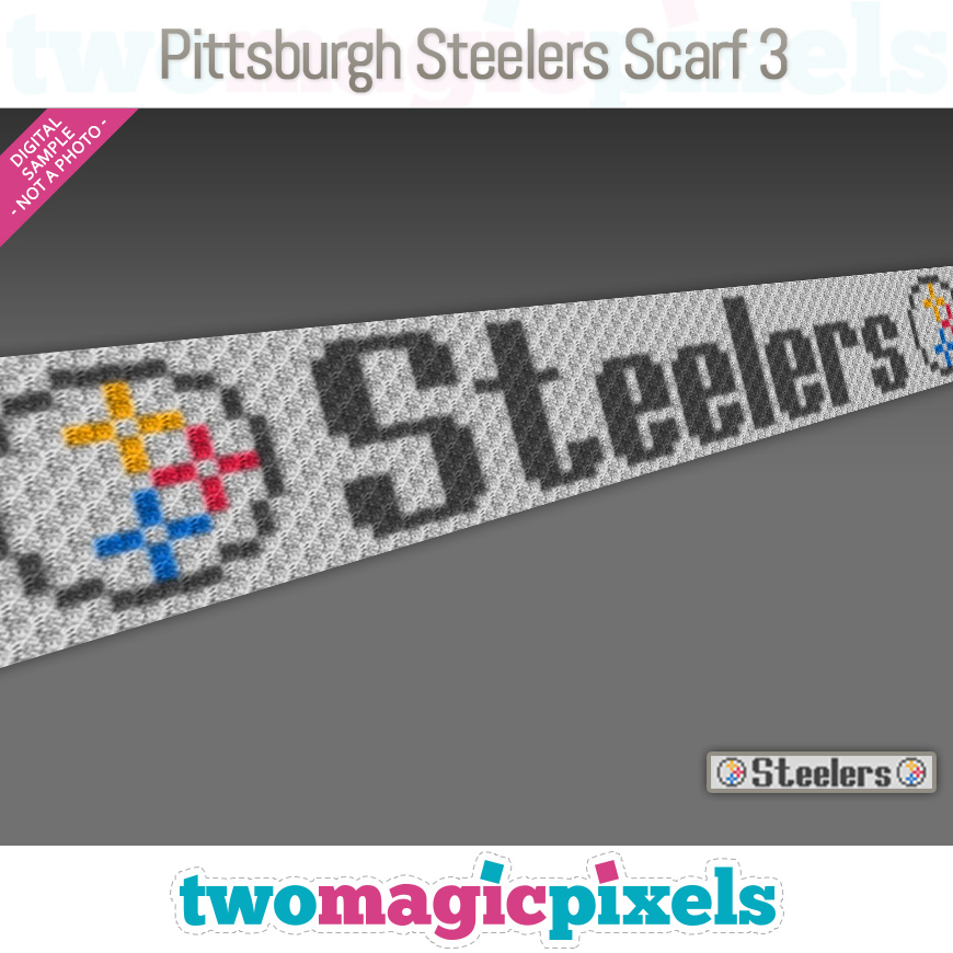 Pittsburgh Steelers Scarf 3 by Two Magic Pixels