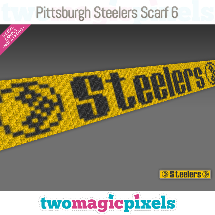 Pittsburgh Steelers Scarf 6 by Two Magic Pixels