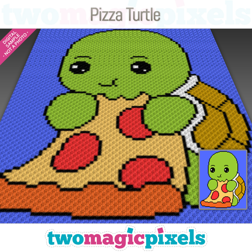 Pizza Turtle by Two Magic Pixels