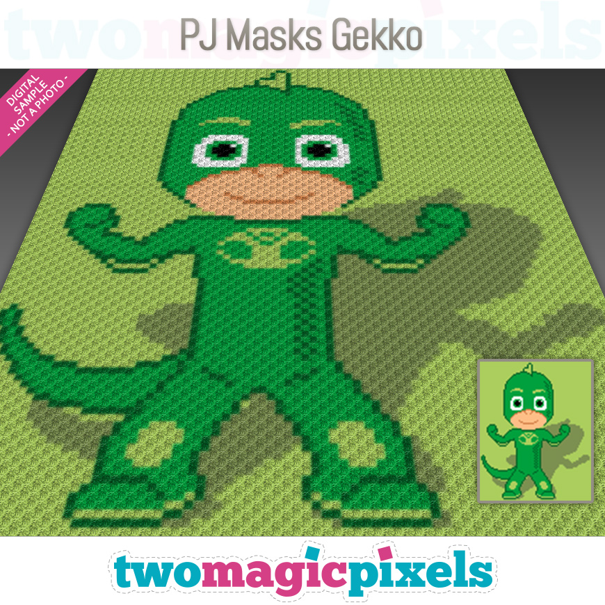 PJ Masks Gekko by Two Magic Pixels