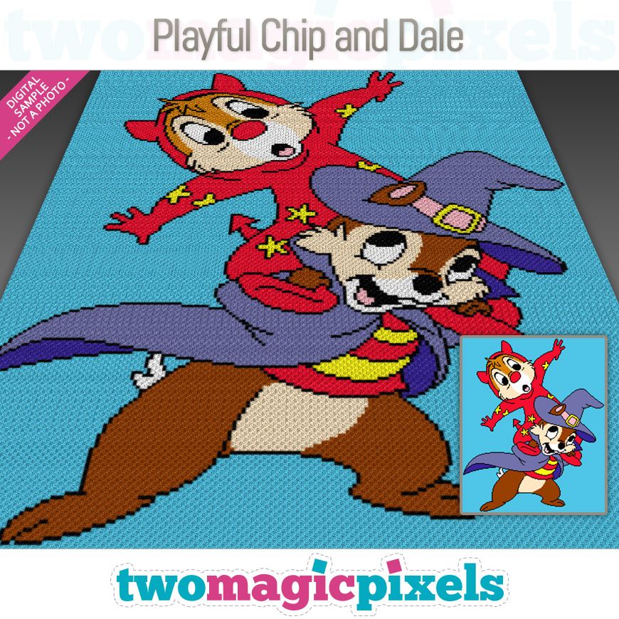 Playful Chip and Dale by Two Magic Pixels