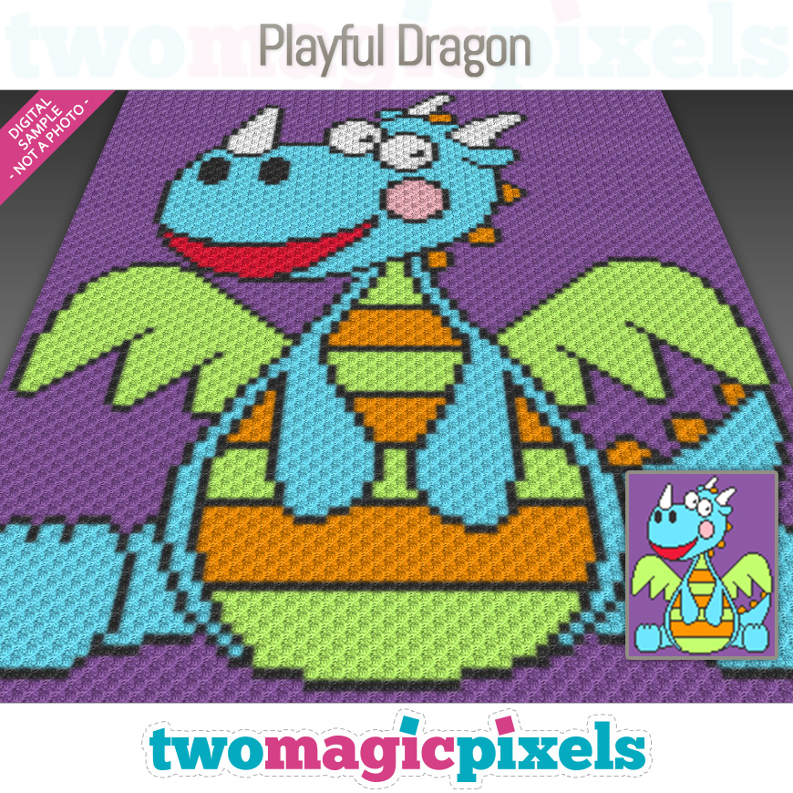 Playful Dragon by Two Magic Pixels