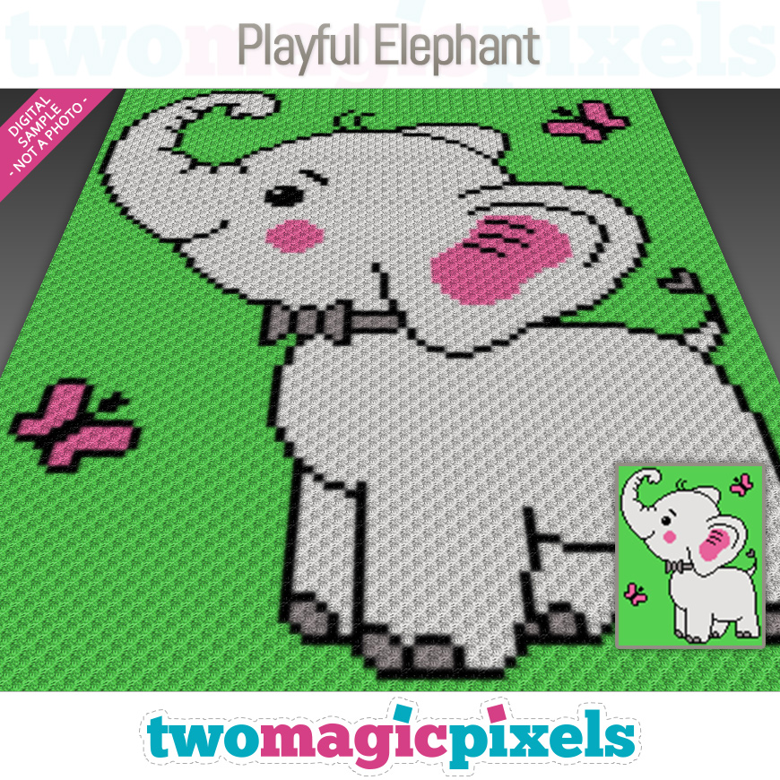 Playful Elephant by Two Magic Pixels