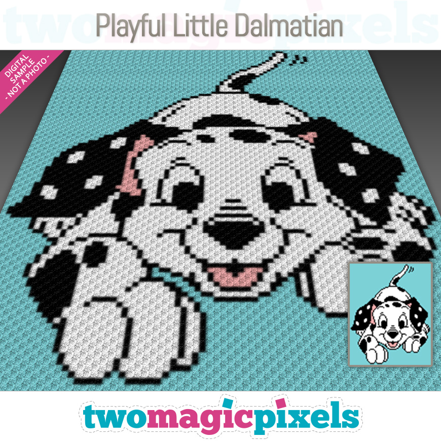 Playful Little Dalmatian by Two Magic Pixels