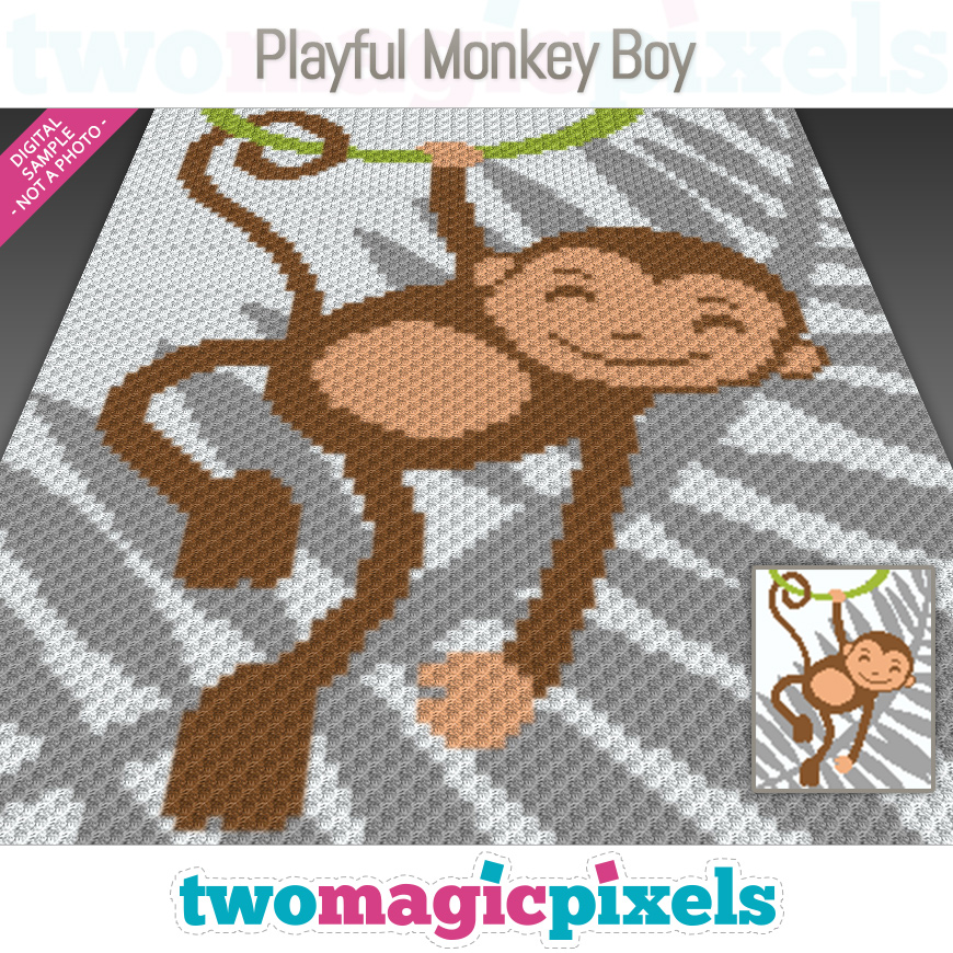 Playful Monkey Boy by Two Magic Pixels