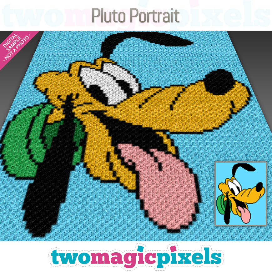 Pluto Portrait by Two Magic Pixels