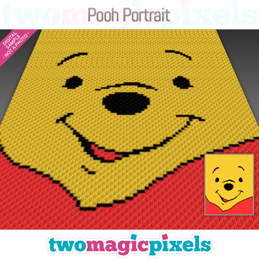 Pooh Portrait by Two Magic Pixels