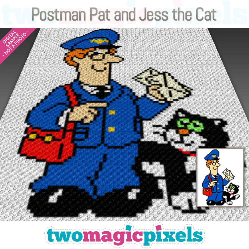 Postman Pat and Jess the Cat by Two Magic Pixels