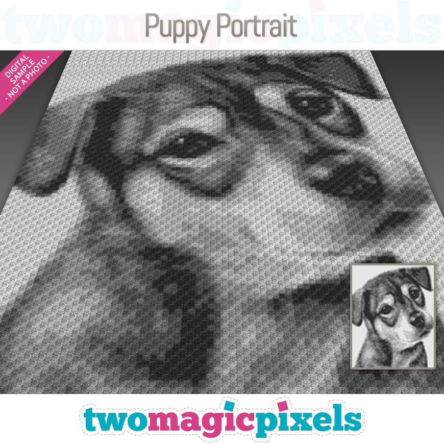 Puppy Portrait by Two Magic Pixels