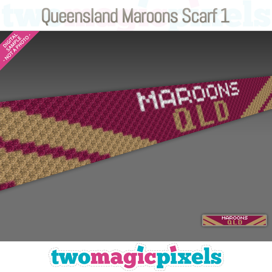 Queensland Maroons Scarf 1 by Two Magic Pixels