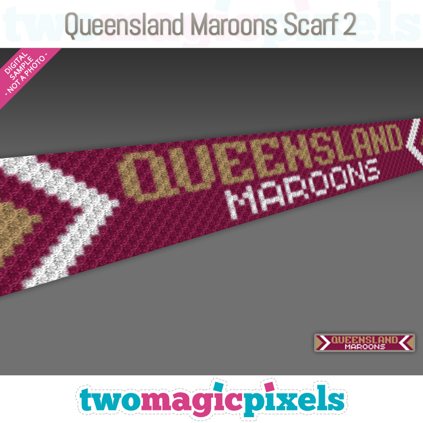 Queensland Maroons Scarf 2 by Two Magic Pixels