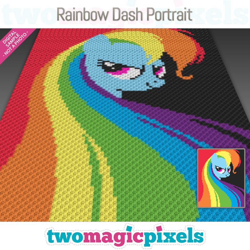 Rainbow Dash Portrait by Two Magic Pixels