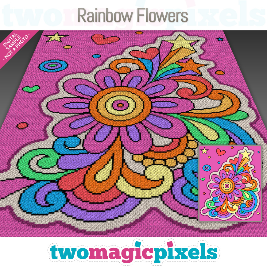 Rainbow Flowers by Two Magic Pixels