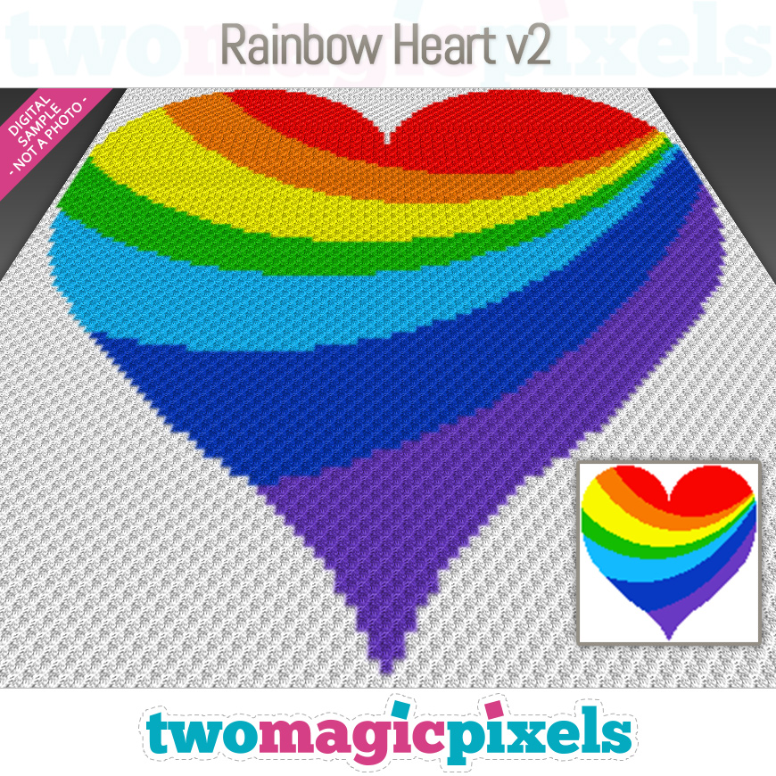 Rainbow Heart v2 by Two Magic Pixels