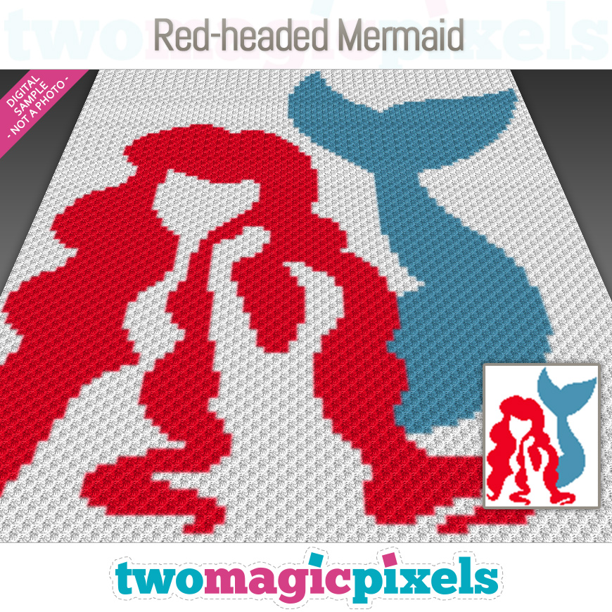 Red-headed Mermaid by Two Magic Pixels