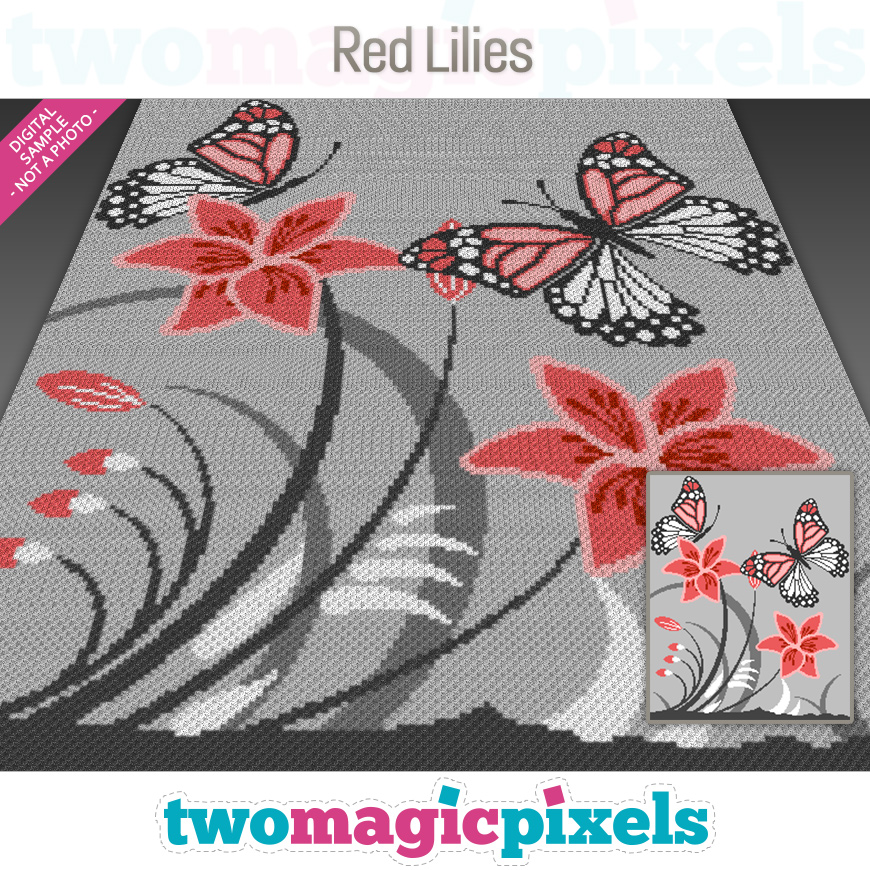 Red Lilies by Two Magic Pixels