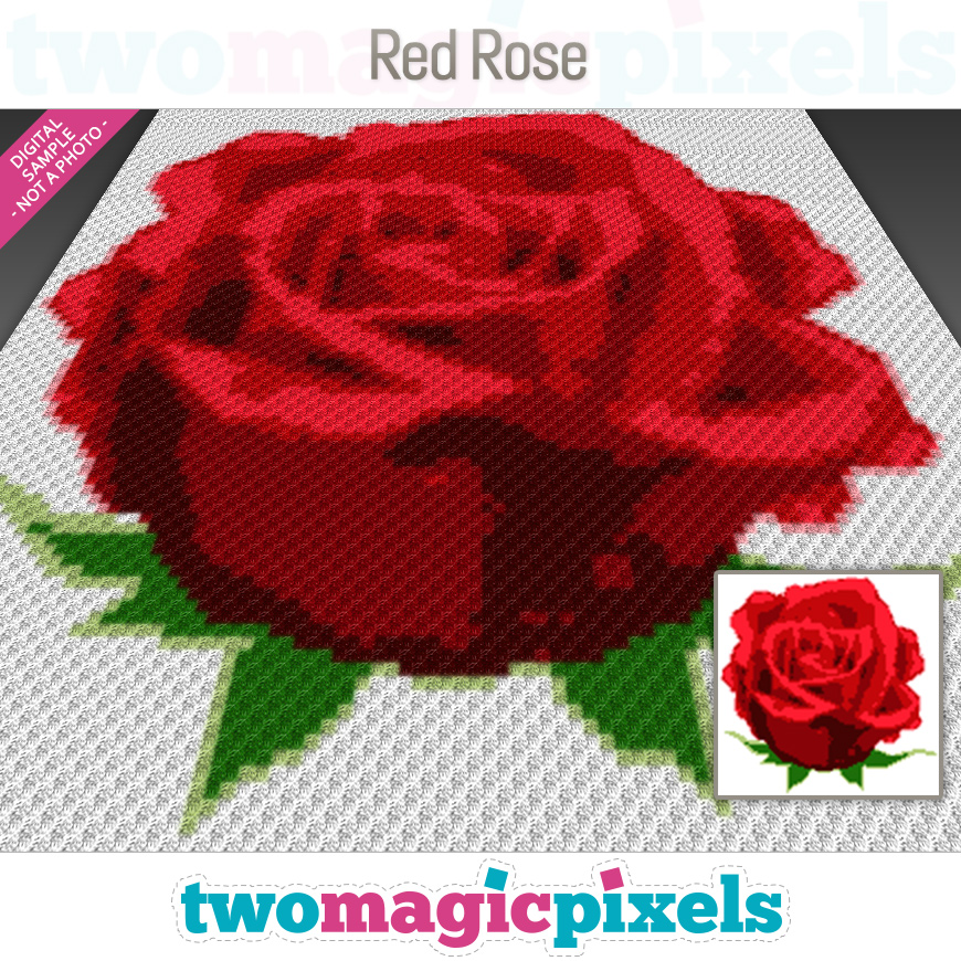 Red Rose by Two Magic Pixels