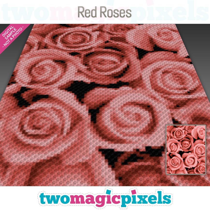 Red Roses by Two Magic Pixels