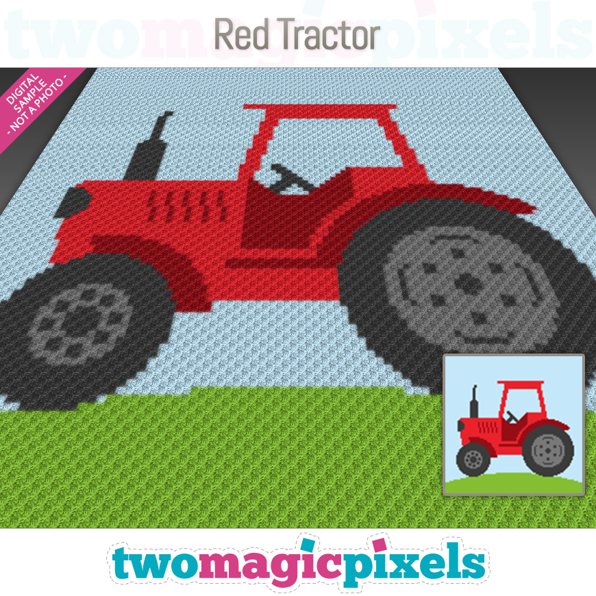 Red Tractor by Two Magic Pixels