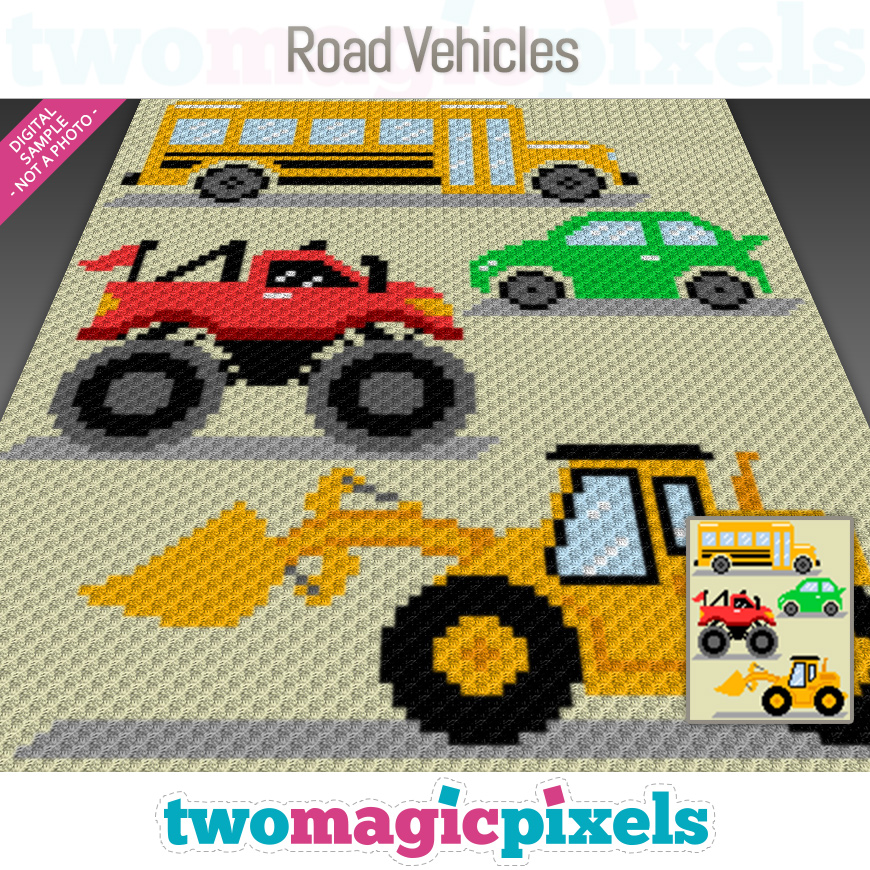 Road Vehicles by Two Magic Pixels