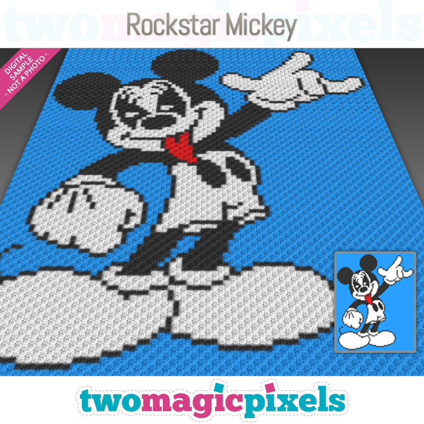 Rockstar Mickey by Two Magic Pixels