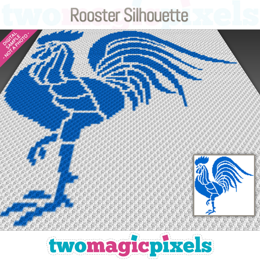 Rooster Silhouette by Two Magic Pixels