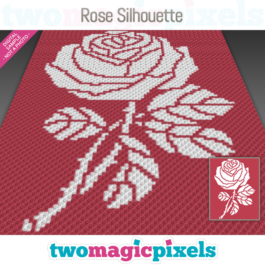 Rose Silhouette by Two Magic Pixels