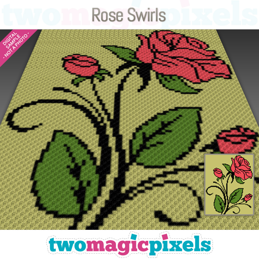 Rose Swirls by Two Magic Pixels
