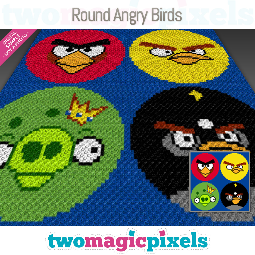 Round Angry Birds by Two Magic Pixels