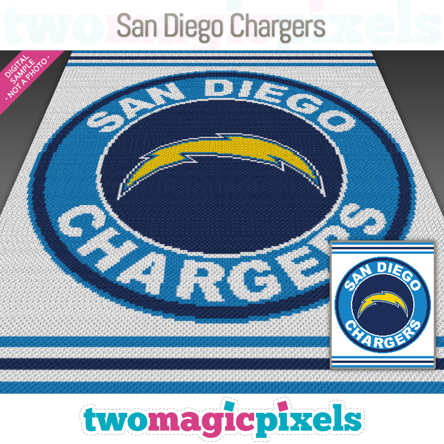 San Diego Chargers by Two Magic Pixels