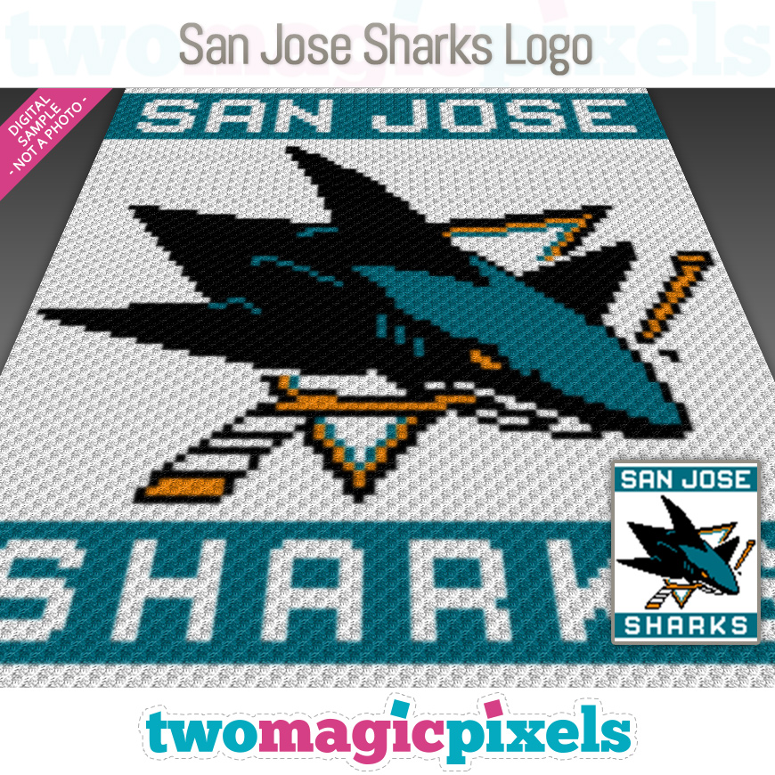 San Jose Sharks Logo by Two Magic Pixels