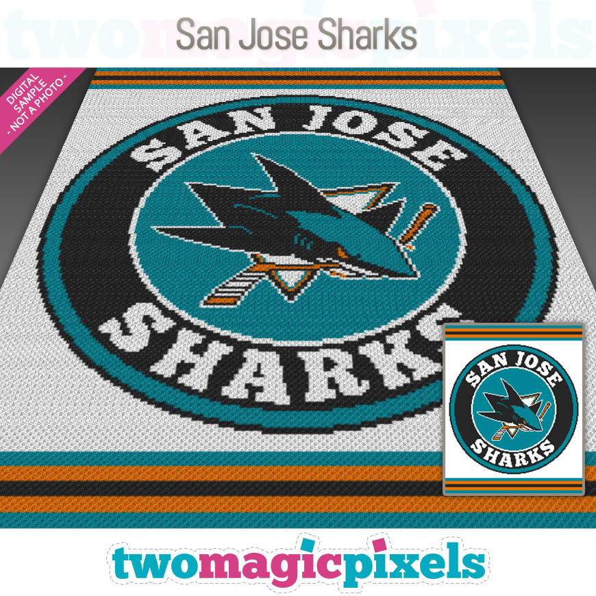 San Jose Sharks by Two Magic Pixels