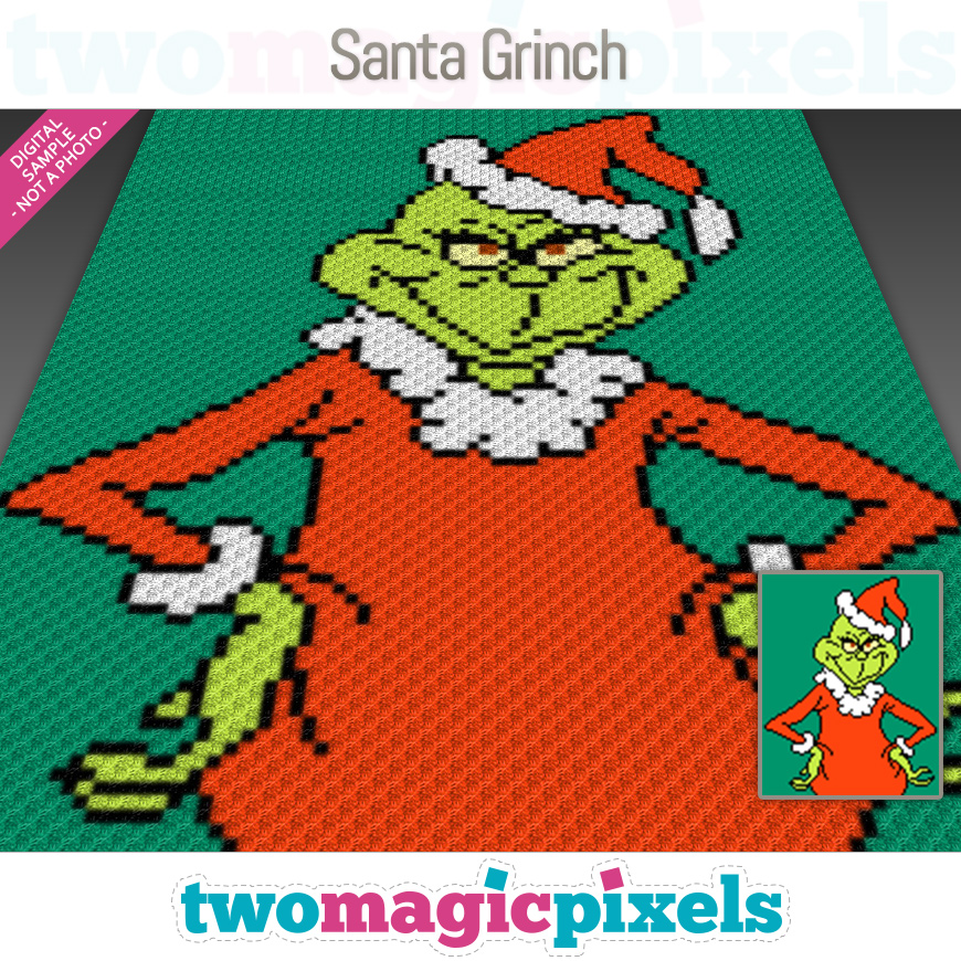 Santa Grinch by Two Magic Pixels