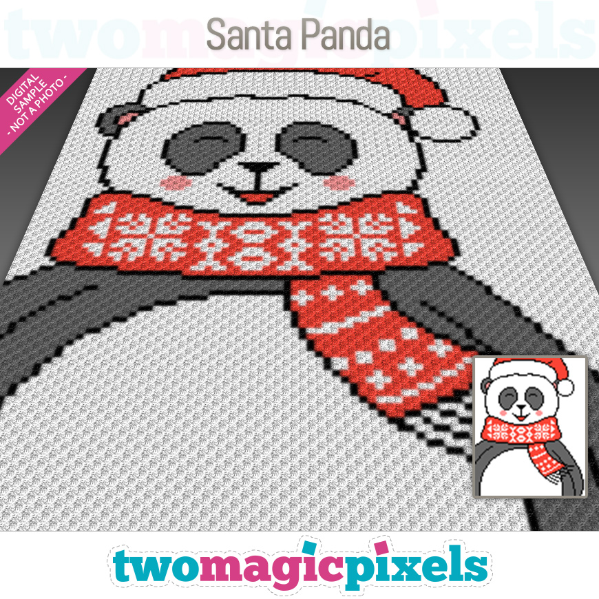 Santa Panda by Two Magic Pixels