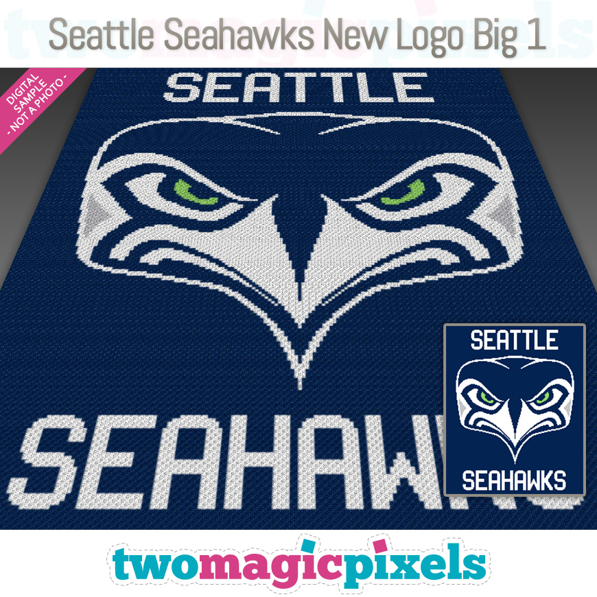 Seattle Seahawks New Logo Big 1 by Two Magic Pixels