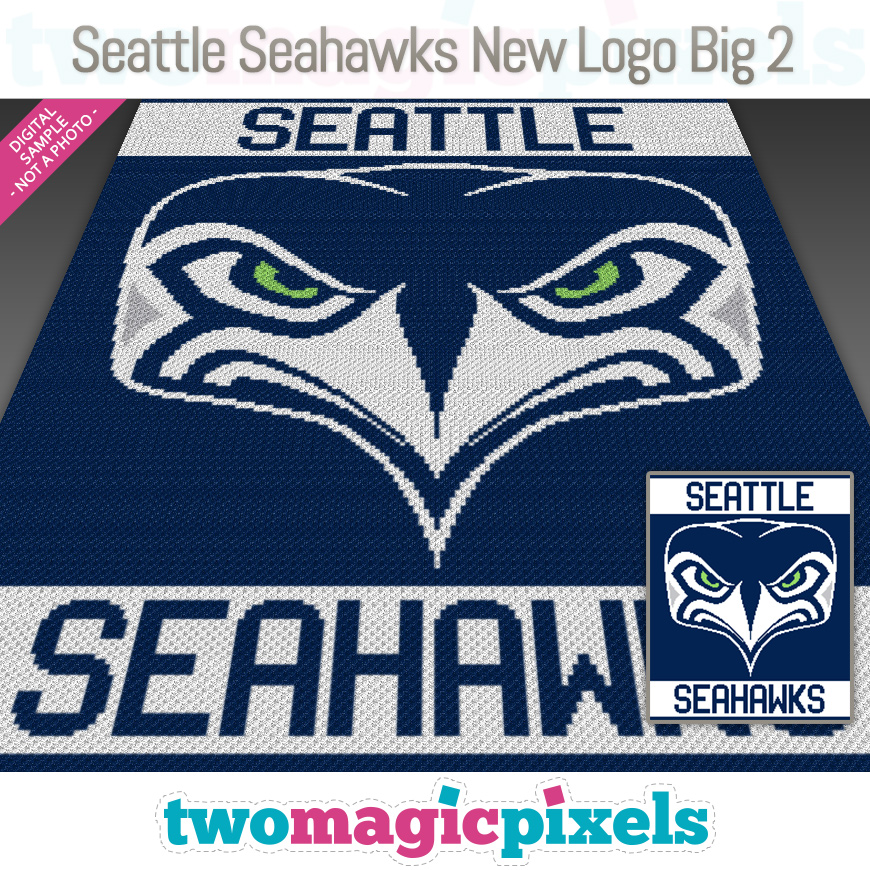 Seattle Seahawks New Logo Big 2 by Two Magic Pixels