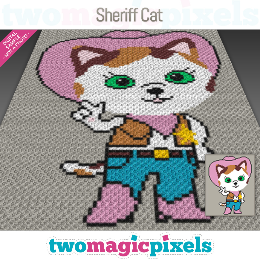 Sheriff Cat by Two Magic Pixels