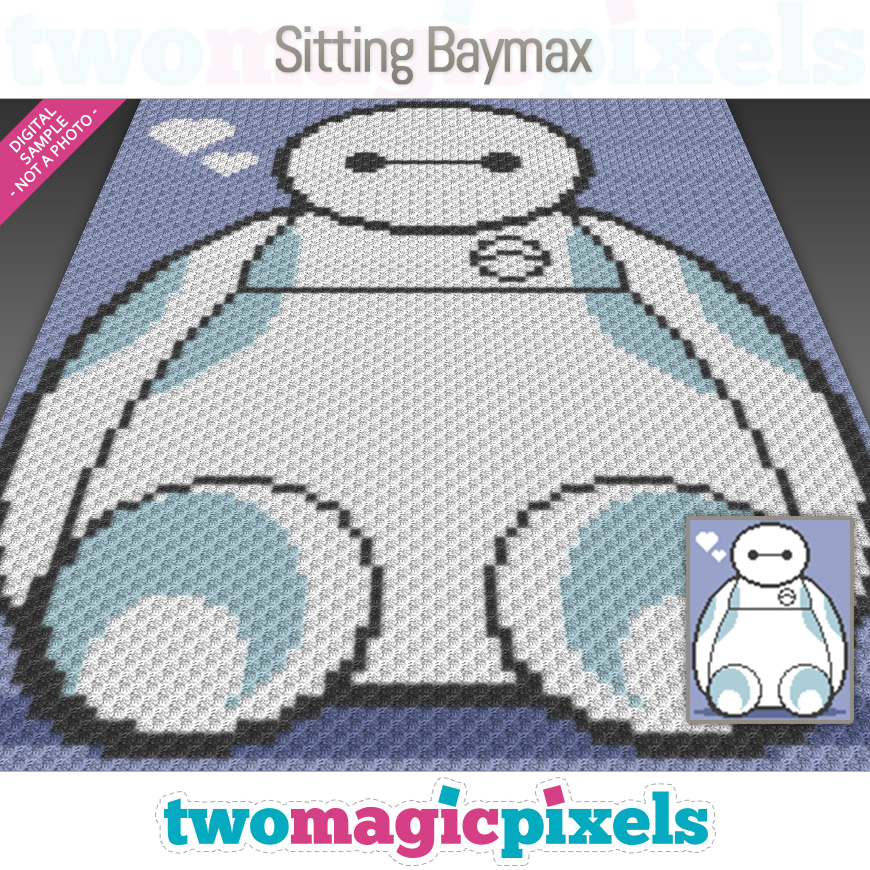 Sitting Baymax by Two Magic Pixels