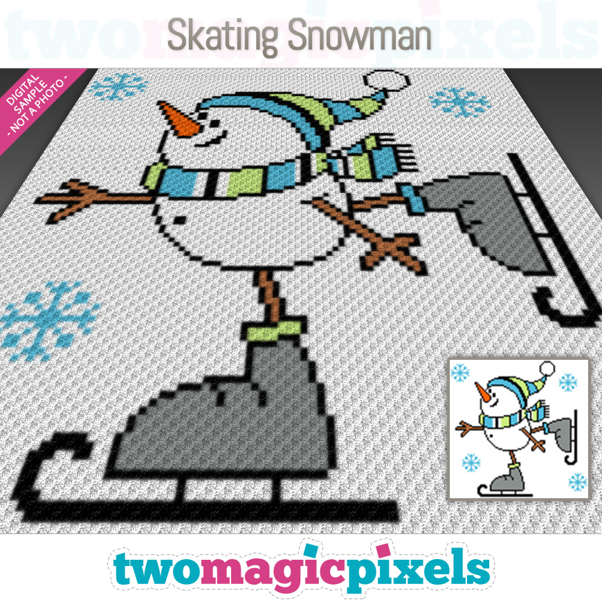 Skating Snowman by Two Magic Pixels